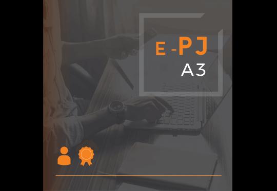 Certificado Digital para Pessoa Juridica A3 (e-PJ A3)