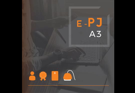 Certificado Digital para Pessoa Jurídica A3 de 18 meses em cartão + leitora para ME/EPP/MEI (e-PJ A3)